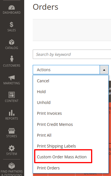 How to Add Custom Mass Action in Order Grid in Magento 2